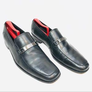 Hugo Boss Italian Loafer - Black, Apron Toe - 11.5